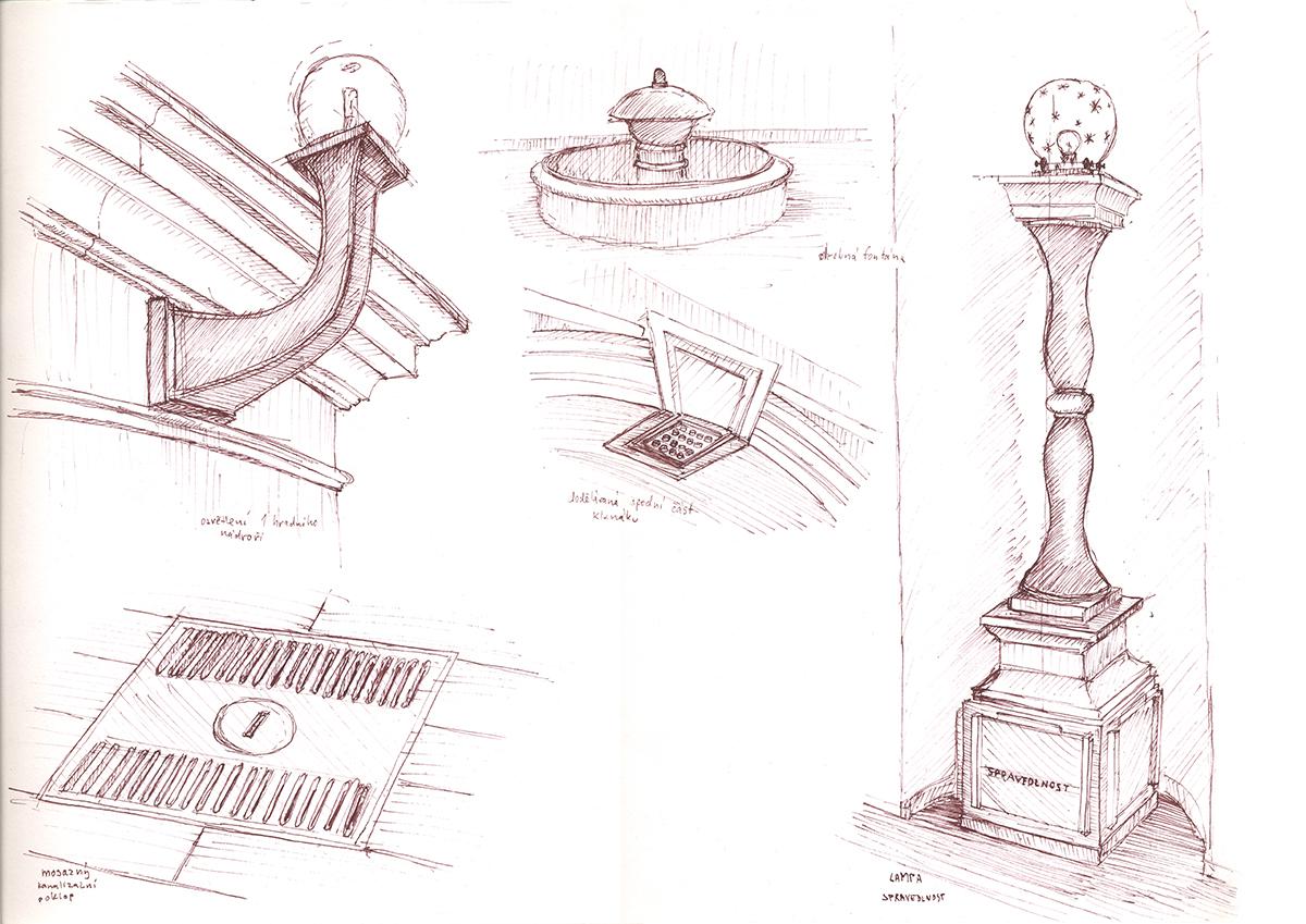 Plecnik svetla detaily A3